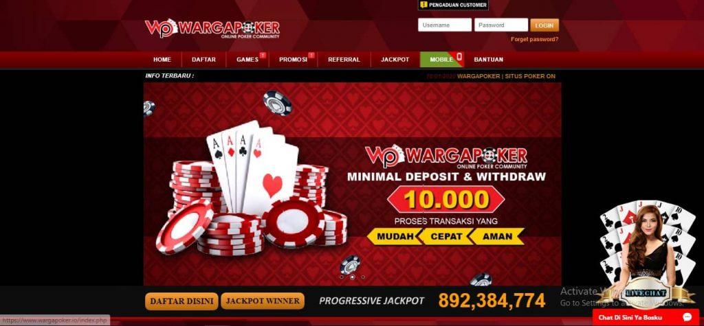 Wargapoker Memiliki Keunggulan Sebagai Agen IDN Poker Online